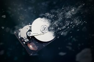 Hard drive disintegrating
